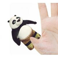 Quality 4 inch Fashon Kungfu Panda Plush Finger Puppets Kids Finger Puppets for sale