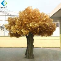 Garden Decoration Artificial Banyan Tree , Yellow Leaves Fake Ficus Tree for sale