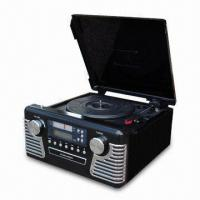Buy cheap Retro Music Center with Turntable, CD Recorder, AM/FM Analog Radio, RCA Line-in and RCA Line-out product