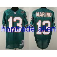 Quality Football jerseys Wholesale 100% Nylon Mesh Miami Dolphins 13 Dan Marino Authentic Green Throwback jersey free shipping mix order for sale
