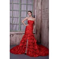 Quality Elegant Strapless Mermaid Taffeta Red Evening Party Dress Online Shop 2013 for sale