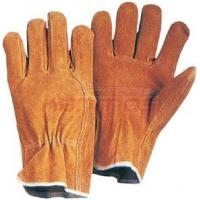 Quality index finger, wing thumb Pig split Leather Driving Gloves 21201 For Safety Working for sale