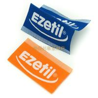Quality White Taffeta Woven Custom Clothing Brand Labels With Centre Fold Eco Friendly for sale