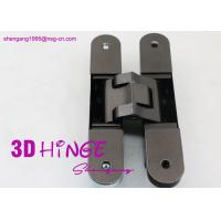 Buy cheap 3d heavy duty adjustable concealed hinge for heavy internal doors Concealed Door hinges in Satin Nickel finish product