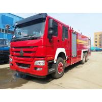 Quality Red Special Purpose Truck , HOWO Heavy Duty Emergency 6x4 Fire Fighting Truck for sale