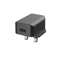 Quality RoHS BV Single USB 5V2.4A Usb Wall Charger UK Fireproof PC for sale