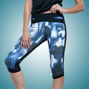 China Sublimation Yoga Capri Pants on sale