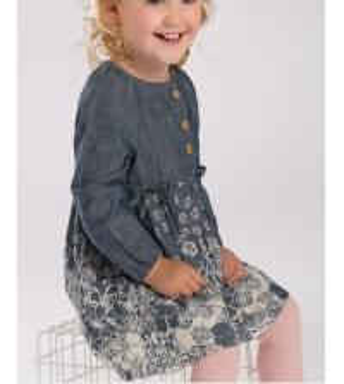 Buy Spring girl denim dress Lovely printing princess skirt at wholesale prices