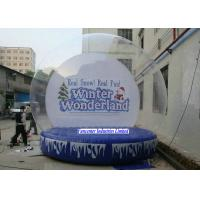 Buy cheap Winter Wonderland Inflatable Snow Globe Large Diameter For Huge Containing Spaces from wholesalers