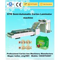 Quality Recycled Cardboard Semi Automatic Paper Folding Machine And Carton Gluing Machine for sale