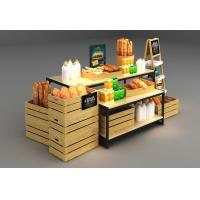 China Wooden Box Combination Design Shop Display Shelving With Metal Frame on sale