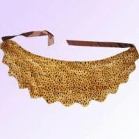 Quality Fur Scarf in Leopard-print Pattern Made of Polyester for sale