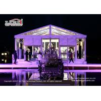 Buy cheap Transparent 20 x 25m A  Shape Marquee With Glass Walls For Temporary Wedding from wholesalers