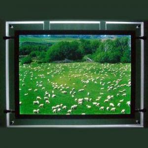Quality Fashion Acrylic LED Panel/LED Light Frame/LED Light Box, Easy to Change Advertising Print Inside for sale