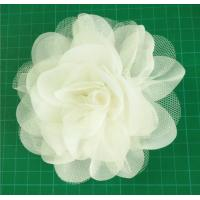 Quality Handmade Mesh Flower,circle flower used chiffon and fibula in the bottom for sale