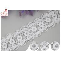Buy cheap Decorative Knitted Water Soluble Cotton Lace Trim For Wedding Dresses from wholesalers