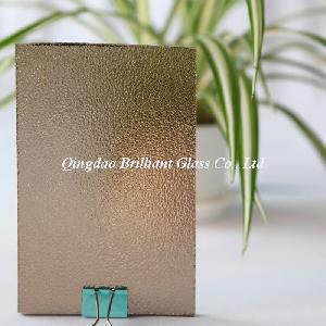 Quality 4mm, 5mm Bronze Nashiji/Karatachi/Flora Patterned Glass for sale