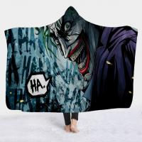 Quality Horror Movie Character Hooded Blanket for Adult Gothic Halloween Sherpa polar fleece fabric Wearable Throw Blanket for sale