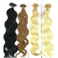 """Quality 30"""" Custom Human Hair Wigs , 100% Remy Human Yellow And Brown I - Tip Pre Bonded Hair Extension for sale"""