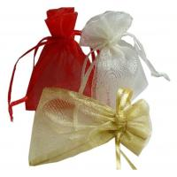 Wedding Gift Drawstring Jewelry Pouch ISO9001 Approved Comfortable Organza Bags