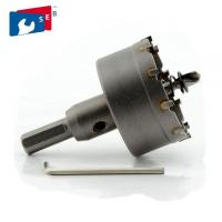 China 35 Mm Sheet Metal Hole Saw Cutter Heat Treatment Tri Flat Shank Long Life Span on sale