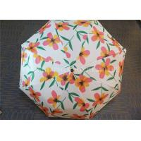 Buy Auto Open 3 Fold Umbrella Travel Use With Flower Patterns Layer And Handle at wholesale prices