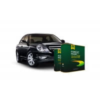 Quality Quick Drying 2K Solid Auto Body Metal Filler Deep Emerald Green Flat Black for sale