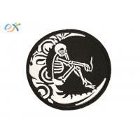 Quality Fashion Custom Made Motorcycle Patches Round Shape Skull Motorcycle Patches for sale