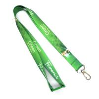 Green Heat Transfer Lanyard With Metal Spring Hook For MP3