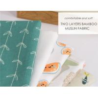 Buy cheap Bamboo Cotton Soft Baby Muslin Fabric For Baby Blanket Reactive Printing from wholesalers