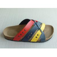 China Causal Men Cork Sandals , 39-46 Size Summer Textile Comfortable on sale