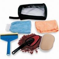 Quality Car Cleaning Kit with Dust Brush, Includes Storage Bag and Sponge for sale