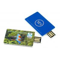Quality Customize Design Credit Card Shape USB Flash Drives With Laser Engraving Logo for sale