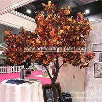 Maple Color Artificial Evergreen Trees / Fake Sycamore Tree Weeding Tabletop for sale