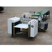 China Beverage / Apparel Automatic Gluing Machine For Rigid Boxes Continuesly Feeding on sale