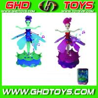 Quality Best Promtional Gifts ,Induction Flying Fairy with Music and light ,plastic toys for sale