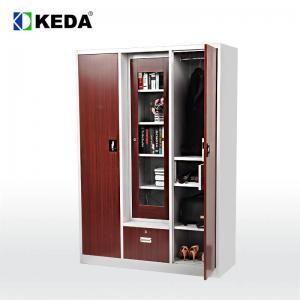 Quality 0.4mm Steel W1350mm Metal Wardrobe Cabinet for sale