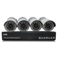 China 1.0 Megapixel IP Bullet wireless security camera systems NVR Kits on sale