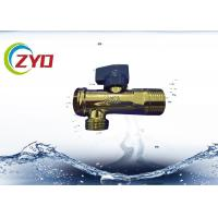 Quality Low Pressure Plumbing Angle Valve , Iron / Brass Triangle Valve S.S Filter Net for sale
