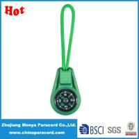 China 550 survival paracord zipper pull with compass on sale