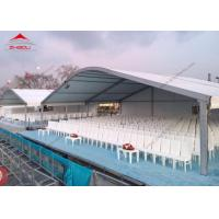 Quality Big Outdoor Exhibition Tents With Half PVC Walls , 20m Width Arcum Tent for sale