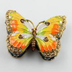 Shinny Gifts Butterfly Trinket Box Jewelry Box Ornament Gifts Box