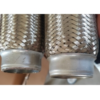 Quality Auto Engine Stainless Steel Exhaust Parts 51 X 150mm Flexible Exhaust Pipe for sale