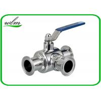 Buy cheap SS304 316L Stainless Steel Sanitary Manual Three Way Ball Valves for Hygienic Pipeline Applications from wholesalers