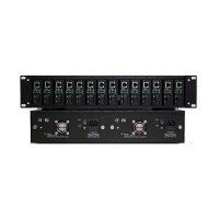 Quality TS-2U14R Series 19 Inch Fiber Transceiver Frame Power Protection for sale