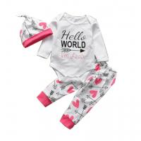 China OEM ODM Fashion Summer Newborn Girl Outfits With Knitted Cap Eco Friendly on sale