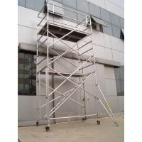 China Aluminium Safe Stairway Scaffolding / 6M scaffold stair tower with Adjustable leg EN1004 2004 on sale