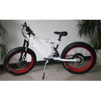 Buy cheap 48v3000w TFT colorful display white alloy enduro frame snow fat electric bike with lithium battery from wholesalers