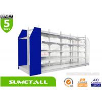 Quality Classical Convenience Store Shelving / Grocery Store Shelves With Mesh Grid Panels for sale