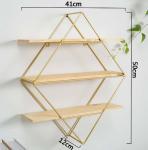 Quality Diamond Wall Shelf Diamond Book Shelf Geometric Shelf Open Shelving | Urban Outfitters inspired for sale